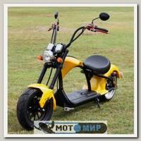 Электроскутер Citycoco Harley Chopper 2000W (желтый)